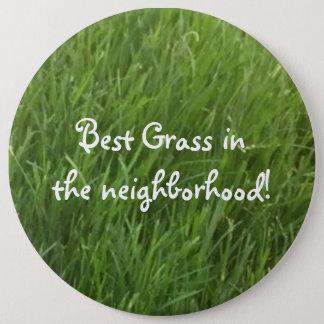 La mejor hierba en el botón del premio de la