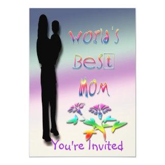 La mejor invitación de la mamá del mundo invitación 12,7 x 17,8 cm