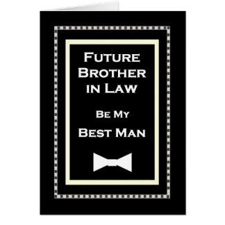 La mejor invitación del boda del hombre del cuñado