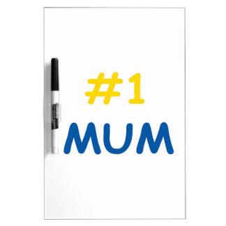 la mejor madre de la momia #1 pizarra blanca