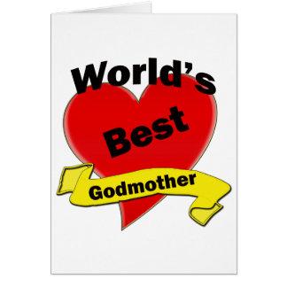 La mejor madrina del mundo felicitacion