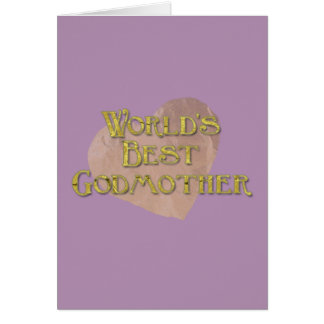 La mejor madrina del mundo tarjeta de felicitación