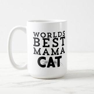 La mejor mamá Cat de los mundos Taza De Café