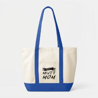 La mejor mamá del Mutt del mundo Bolsa Tela Impulso