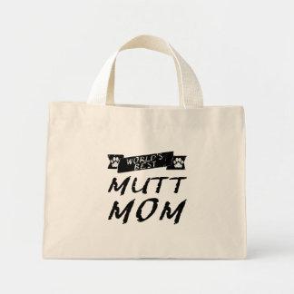La mejor mamá del Mutt del mundo Bolsa Tela Pequeña