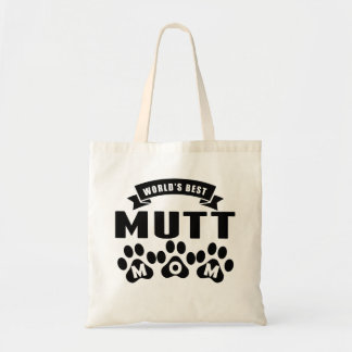 La mejor mamá del Mutt del mundo Bolsa Tela Barata