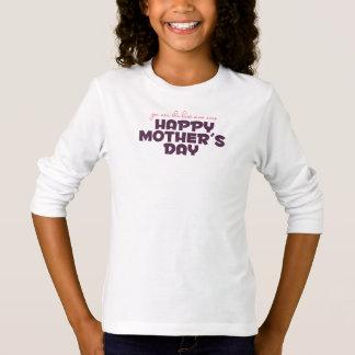 La mejor mamá en la camisa con mangas del día de