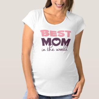 La mejor mamá en la camisa de la maternidad del