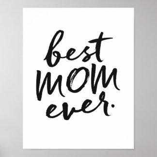 La mejor mamá nunca póster
