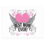 La mejor mamá nunca tarjetas postales