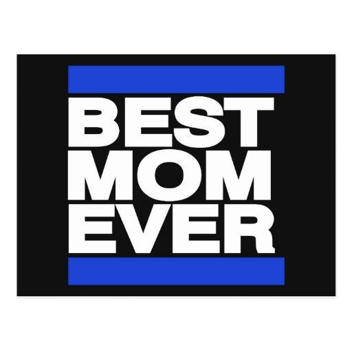 La mejor mamá siempre azul postal