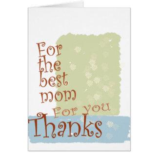 La mejor mamá Tarjeta de felicitación