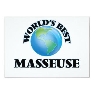 La mejor masajista del mundo invitación 12,7 x 17,8 cm