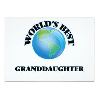 La mejor nieta del mundo invitación 12,7 x 17,8 cm