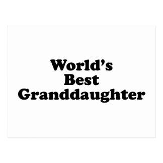 La mejor nieta del mundo postal