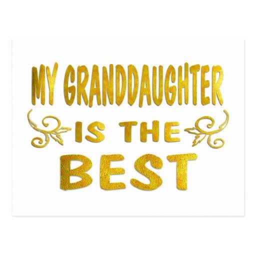 La mejor nieta postales