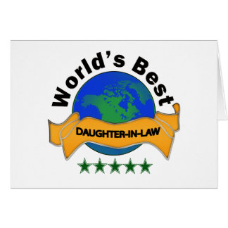 La mejor nuera del mundo tarjeta de felicitación