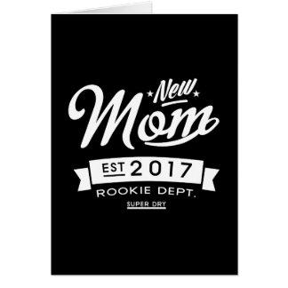 La mejor nueva oscuridad de la mamá 2017 tarjeta de felicitación