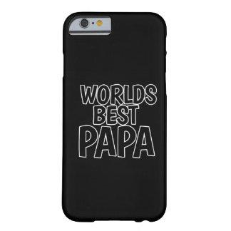 La mejor papá de los mundos funda de iPhone 6 barely there