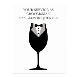 La mejor postal del hombre o del padrino de boda