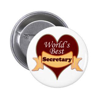 La mejor secretaria del mundo chapa redonda de 5 cm