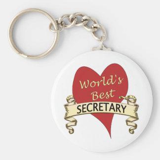 La mejor secretaria del mundo llavero redondo tipo chapa