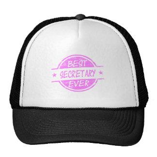 La mejor secretaria Ever Pink Gorro