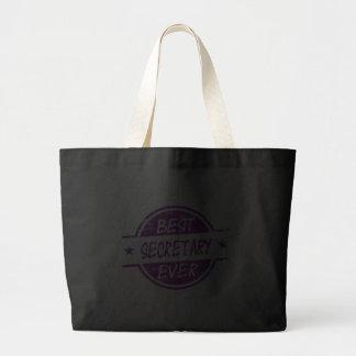 La mejor secretaria Ever Purple Bolsas Lienzo