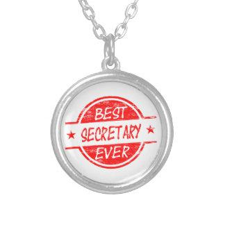 La mejor secretaria Ever Red Pendiente Personalizado