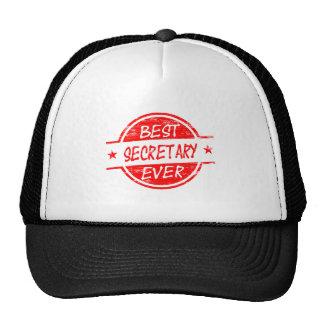 La mejor secretaria Ever Red Gorros Bordados