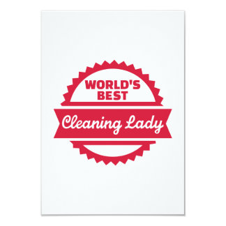 La mejor señora de la limpieza del mundo invitación 8,9 x 12,7 cm