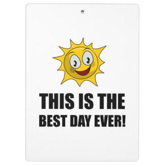 La mejor sol del día nunca carpeta de pinza