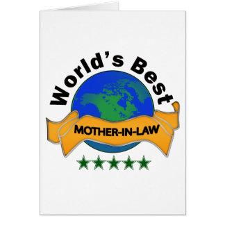 La mejor suegra del mundo tarjeta de felicitación