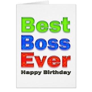 La mejor tarjeta de cumpleaños de Boss nunca para