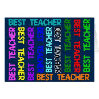 La mejor tarjeta de felicitación del profesor
