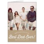 La mejor tarjeta de papel del día de padre de la