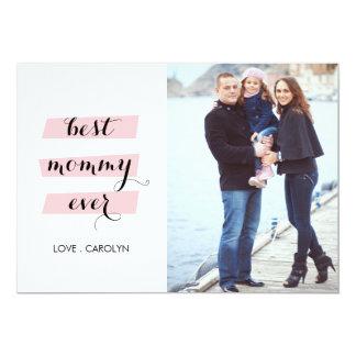 La mejor tarjeta del día de madre de la mamá nunca invitación 12,7 x 17,8 cm