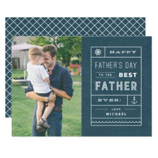 La mejor tarjeta del día de padre del padre -