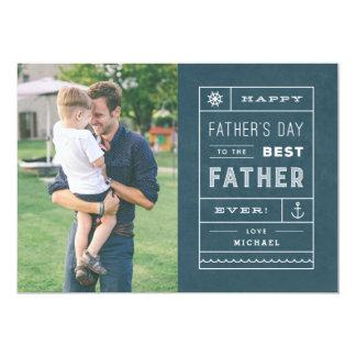 La mejor tarjeta del día de padre del padre - invitación 12,7 x 17,8 cm