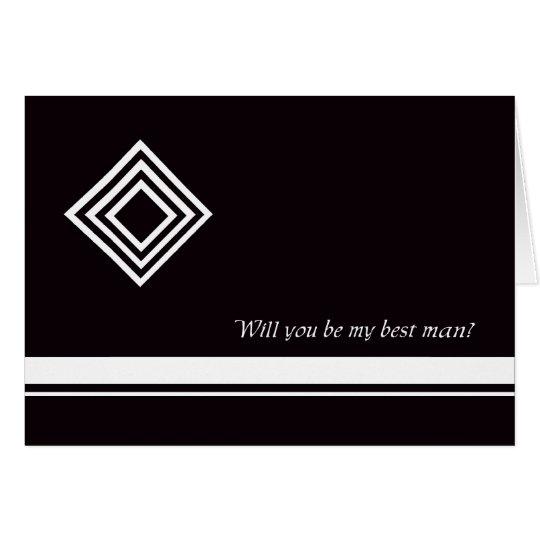 La mejor tarjeta del hombre del diamante