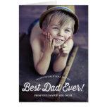 La mejor tarjeta retra del día de padre de la