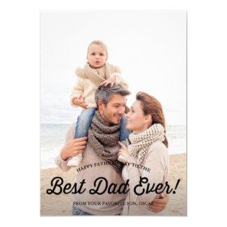 La mejor tarjeta retra del día de padre de la invitación 12,7 x 17,8 cm
