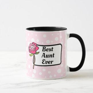 La mejor taza de café de tía Ever Pink Polka