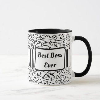 La mejor taza de café siempre blanco y negro de
