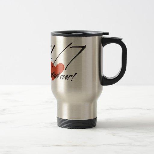 La mejor taza del acero inoxidable del papá