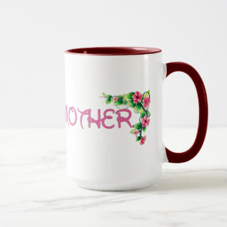 La mejor taza del día de madre de la flor