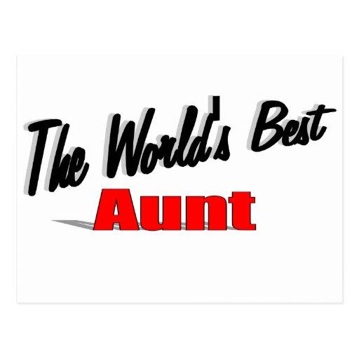 La mejor tía del mundo tarjetas postales