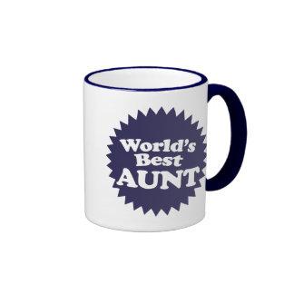La mejor tía del mundo taza de café