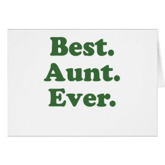 La mejor tía Ever Tarjeta De Felicitación