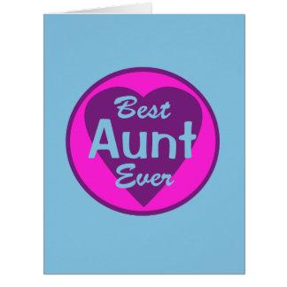 La mejor tía Ever Tarjeta De Felicitación Grande